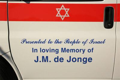 In loving memory of JM de Jonge